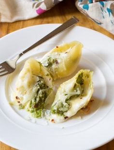 Avocado Pesto Stuffed Shells Recipe | ASpicyPerspective.com