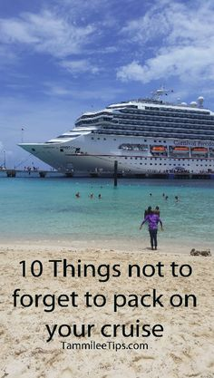 10 Things not to forget to pack on your Cruise Vacation # WebMatrix 1.0