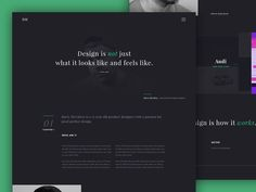 Dribbble - Personal website WIP by Barry McCalvey