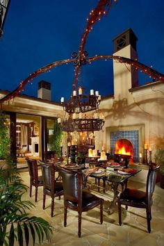 Fabulous outdoor dining room