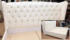 Custom made bed with the great headboard.