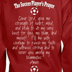 The Soccer Players prayer … – World Soccer News Soccer Memes, Soccer Gear, Soccer Gifts, Soccer Drills, Soccer Coaching, Soccer Quotes, Soccer Boys, Soccer Training, Soccer Players