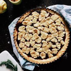 Very Easy Cornmeal and Rosemary Jam Tart | http://joythebaker.com/2016/06/very-easy-cornmeal-and-rosemary-jam-tart/