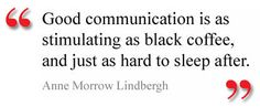 Lindbergh's quote about #Communication, which is often applicable to #PR.