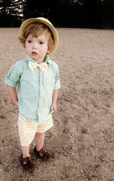 Beach Boy Shorts and Bow Tie Set by katrina spencer