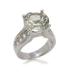 """Shop Colleen Lopez """"First Class"""" 6.13ct Prasiolite and White Topaz Sterling Silver Ring, read customer reviews and more at HSN.com."""