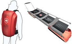 Vite: Collapsible snow stretcher for immediate rescue on slopes