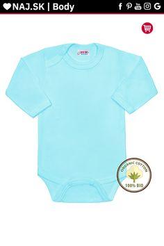 BIO body s dlhým rukávom New Baby modré 62 New Baby Products, Organic Cotton, Onesies, Kids, Clothes, Fashion, Children, Tall Clothing, Moda