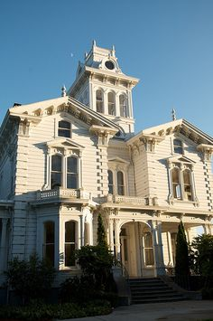 Meek Estate,  Cherryland, just north of Hayward, California. It is listed on the National Register of Historic Places. Located on nearly 10 acres, the Victorian was built in 1869 by William Meek.