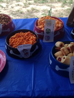 Our food for the Paw Patrol party