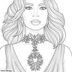 Face Sketch, Outline Drawings, Fantasy Women, Pencil Portrait, Coloring Book Pages, Anime Art Girl, Character Illustration, Printable Coloring Sheets, Fashion Sketches