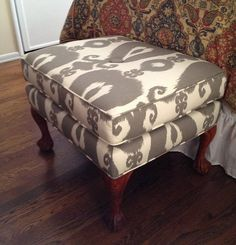 Impeccable Ikat: Ottoman, Sofa & Pillows — The Thursday Afternoon Scavenger