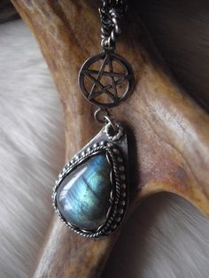 labradorite  and pentacle necklace by inthegate2009 on Etsy, $69.00