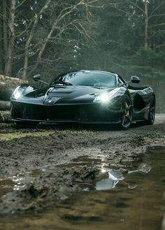 Ferrari Laferrari in the mud. Lease yours with Premier Financial. #PFS #SimpleLease