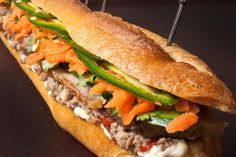 Pork and Pâté Vietnamese Sandwich (Banh Mi) - had these in Houston on a Spring Break long, long, time ago.  A friend just hooked me up with the recipe.  She suggests blending the mayo with butter (half and half) to create a paste and spread that...and says the pâté is NOT optional.  :-)