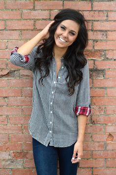Plaid Fad Blouse from Shop Southern Roots TX
