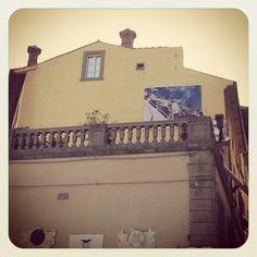 Brian Finke's giant poster in Cortona @onthemove12