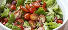 """Picture from: makebetterfood Image Credit: Kevin Marinated Cherry Tomato Salad """"Simple vinaigrette dressing coats a generous h. Cherry Tomato Salad, Tomato Salad Recipes, Cherry Tomatoes, Soup Recipes, Dinner Recipes, Creamy Asparagus, Asparagus Soup, Healthy Salads, Healthy Eating"""