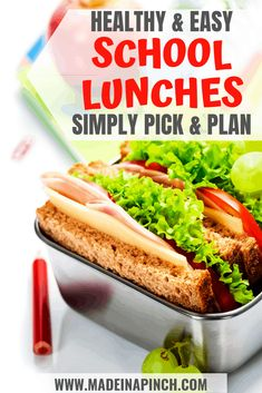 Keep up the momentum of packing healthy school lunches all school year long with these simple tips and great combinations. Packing School Lunches, Healthy School Lunches, Healthy Snacks, Kid Lunches, School Snacks, Healthy Granola Bars, Yogurt And Granola, Turkey Rice Soup, Veggie Hummus Wrap