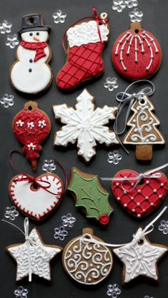 Detail iced sugar cookies, use them for accents on your gingerbread house
