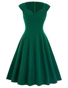 Belle Poque® Women's 1950's Vintage Swing Dresses BP125 at Amazon Women's Clothing store: