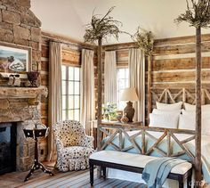The wonders of western inspired interiors. - The Enchanted Home Cabin Interiors, Rustic Interiors, Birmingham, Log Home Living, Mountain Decor, Enchanted Home, Cabins And Cottages, Log Cabins, Lodge Decor