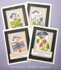 Show and Tell with Michelle: Garden Tags ~ June Stamp of the Month Bog Hop ~ Close to My Heart Stamp Pad, My Stamp, Heart Crafts, Soft And Gentle, Paper Hearts, Close To My Heart, Homemade Cards, Cardmaking, Layouts