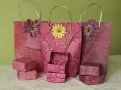 Handmade Paper Gift Bags & Boxes