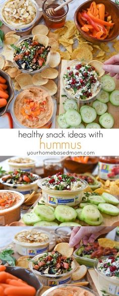 Healthy Snack Ideas with Hummus is the perfect way to kick off the new year.  It's an easy way to reach that goal of healthier snacking!