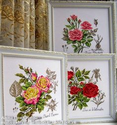 """Embroidery ... The holiday, which is always with me...: Étude à la rose """"Queen Elisabeht"""" Veronigue Enginger"""