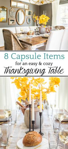 8 Capsule Staples for an Easy Thanksgiving Tablescape - Bless'er House Tips for incorporating classic pieces from Walmart on a Thanksgiving table that save storage space, time, money, and create versatility for every season of decorating. #thanksgiving #tablescape