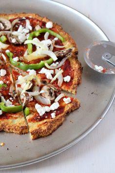 Grain Free Cauliflower Crust Veggie Pizza