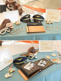 Stylish blue and gold wedding events свадьба мечты, свадьба Pilot Wedding, Air Force Wedding, Wedding Film, Gold Wedding, Wedding Events, Wedding Ideas, Aviation Wedding Theme, Airplane Wedding, Aviation Theme