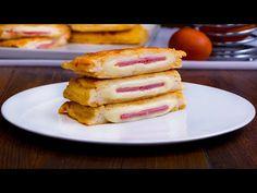 Dejun in doar 20 de minute, cu sunca si cascaval Cookrate-Romania - YouTube Mozzarella, 20 Minutes, Queso, Pancakes, French Toast, Sandwiches, Snacks, Breakfast, Recipes