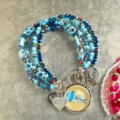 Make mom a special Bead Gallery® Baby Boy Bracelet to show her love of her baby boy
