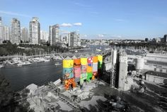 Giants: Os Gemeos Convert Six Enormous Silos into Awesome Works of Colorful Street Art in Vancouver