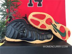 Nike Air Foamposite Pro Gorge Green- Black  Red New Release 6436d7884e2e
