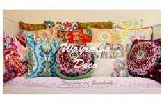 almohadones y manteles plásticos, telas importadas de hermosos diseños