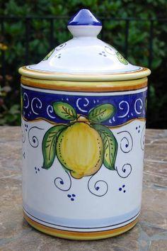 Italian Ceramics Limone Alcantara Collection....love the traditional limone.....molto bene!