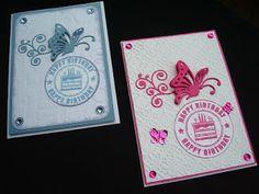 Márcia - cartões: Cartão borboleta