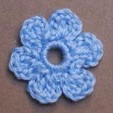 Small Flat Crochet Flower Applique