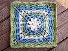 "Pretty Petals - 12"" square, free pattern by Melinda Miller  . . . .   ღTrish W ~ http://www.pinterest.com/trishw/  . . . .    #crochet #flower #motif"