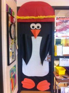 penguin classroom door decorations – Homes Tips Teacher Door Decorations, Christmas Door Decorations, Hallway Decorations, Polo Norte, School Doors, Bulletins, Classroom Door, Winter Fun, Winter Theme