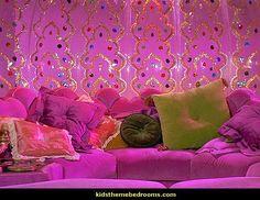 inside i dream of jeannies bottle-theme bedrooms decorating ideas-jeannie bottle theme bedroom
