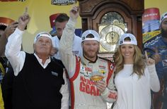 Dale Jr New Girlfriend | Dale Earnhardt Jr. and his girlfriend Amy Reimann (R) and team owner ...