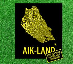 Display av AIK-land