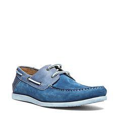 QNSBORO BLUE men's casual moc slip on - Steve Madden