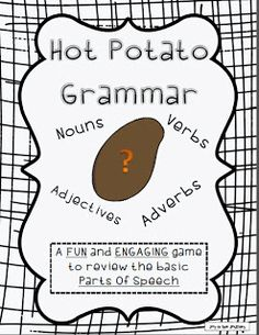 Hot Potato Grammar - a FREE fun and engaging activity that gets your kids BEGGING for GRAMMAR! ~Joy in the Journey~
