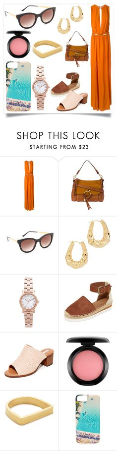 """""""Smiles are always in Fashion..."""" by justinallison ❤ liked on Polyvore featuring Jay Ahr, See by Chloé, Thierry Lasry, Soave Oro, Michael Kors, blank canvas, MAC Cosmetics, Maya Magal and Gray Malin"""