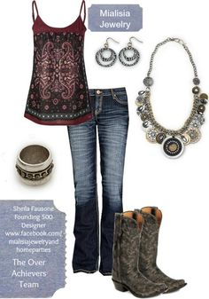 Love this outfit with Mialisia Jewelry!